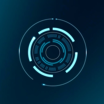 Technologiekreis ai, abstraktes vektor-computer-vision-design