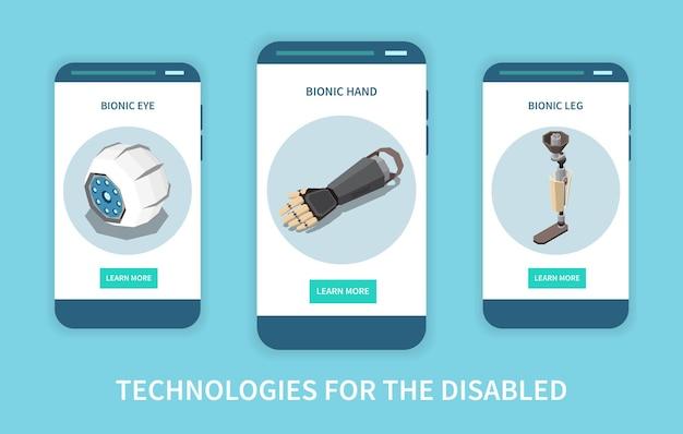 Technologien für behinderte mobiltelefone Kostenlosen Vektoren