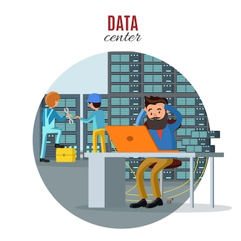 Technologiereparatur-servicekonzept