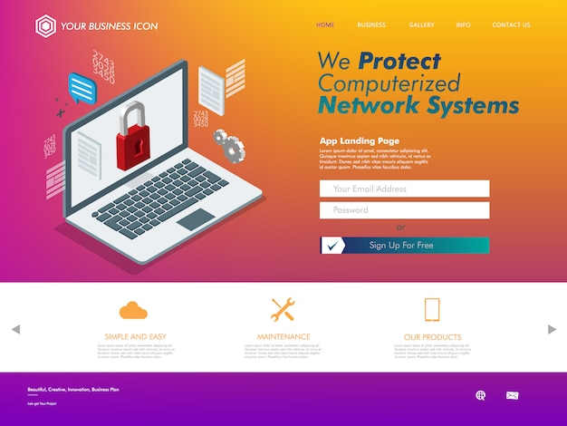 Technologieunterstützung für internet-networking-website