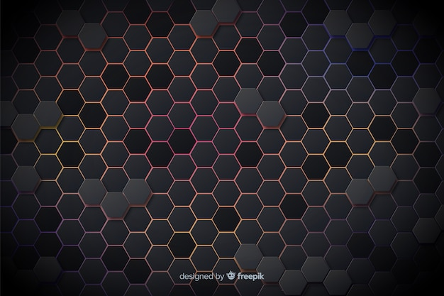 Technologische farbige lichter des bienenwabenhintergrundes