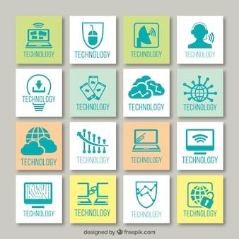 Technologische icon set