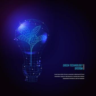 Technologische ökologiekonzepttapete