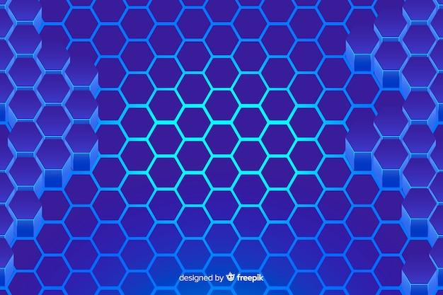 Technologischer bienenwabenblauhintergrund