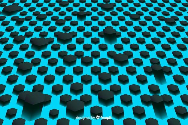 Technologischer bienenwabenhintergrund im blau