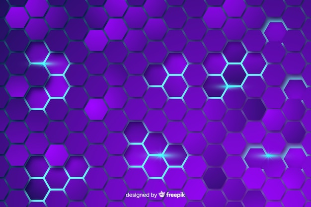 Technologischer bienenwabenpurpurhintergrund