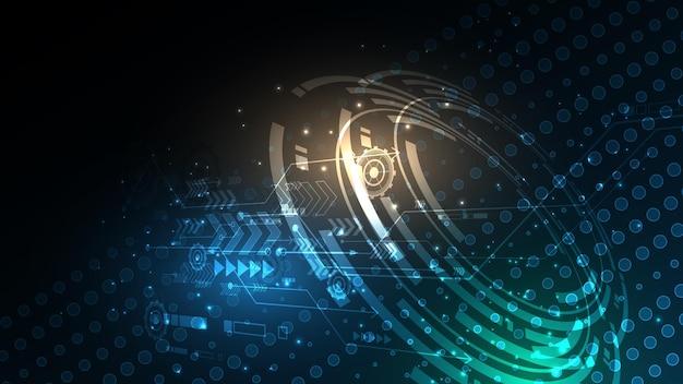 Technologischer hintergrund hi-tech-kommunikationskonzept