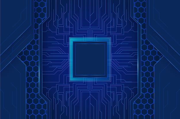 Technologischer hintergrund mit drähten