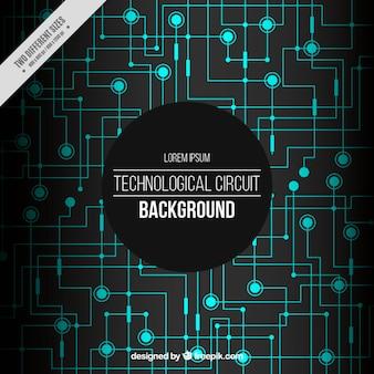 Technologischer hintergrund mit lichtschaltungen