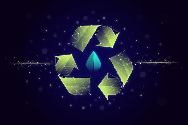 Technologischer ökologiekonzept-bildschirmschoner