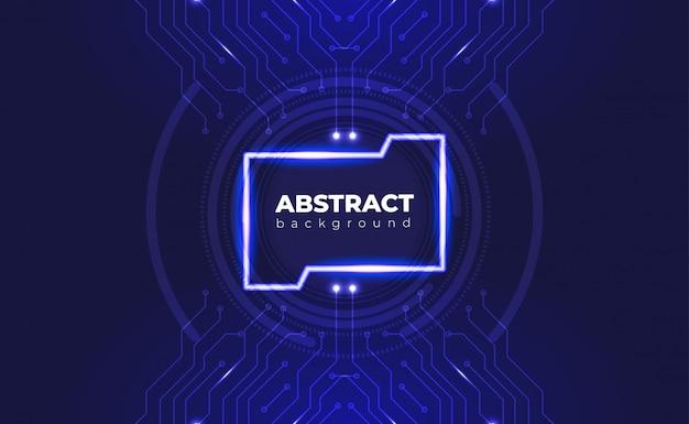 Technologisches hintergrundplatinenkonzept mit neoneffekt.