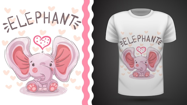 Teddy elefant - idee für print t-shirt