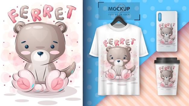 Teddy frettchen poster und merchandising.