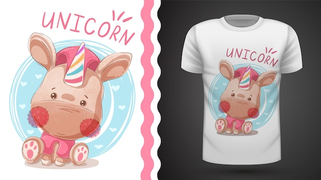 Teddy horn - idee für bedrucktes t-shirt