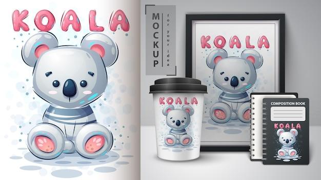 Teddy koala poster und merchandisin