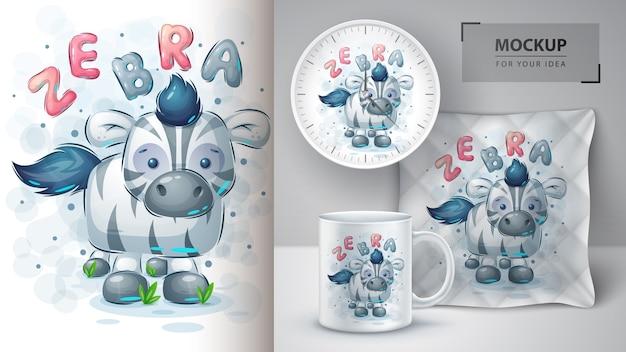 Teddy zebra - poster und merchandising