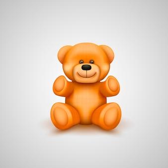 Teddybär auf weißem hintergrund. vektor-illustration