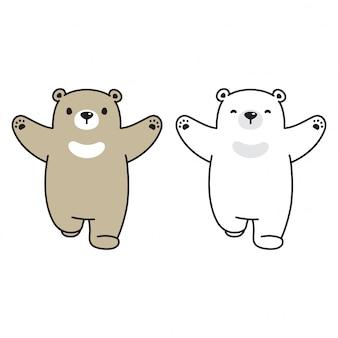 Teddybär ausgeführt cartoon