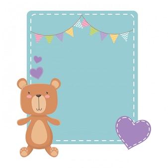 Teddybär-cartoon