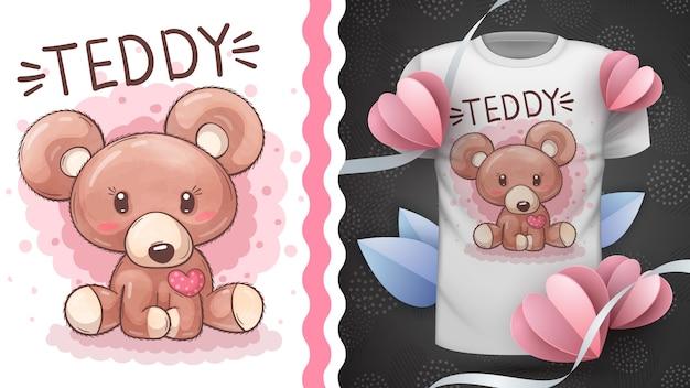 Teddybär - idee für print-t-shirt