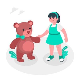Teddybär-konzeptillustration