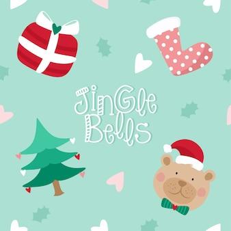 Teddybär weihnachtselemente