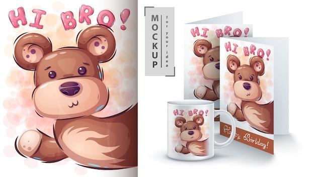 Teddybärplakat und merchandising