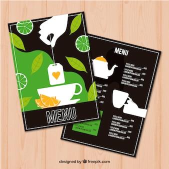 Tee-menü-vorlage zur getränkeliste