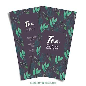 Tee-menüvorlage zum tearoom