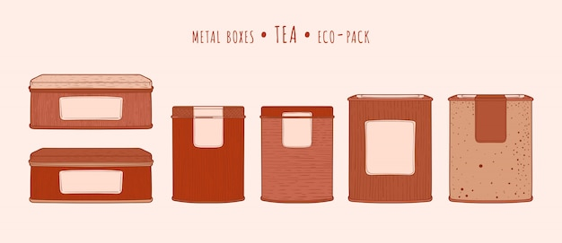 Tee metall quadratische boxen
