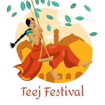 Teej festival abbildung