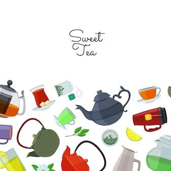 Teekessel und tassen