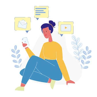 Teenager online-kommunikation