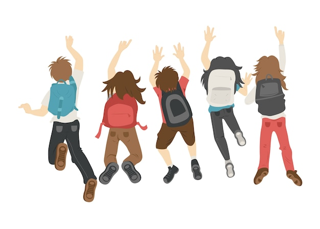 Teenager springen