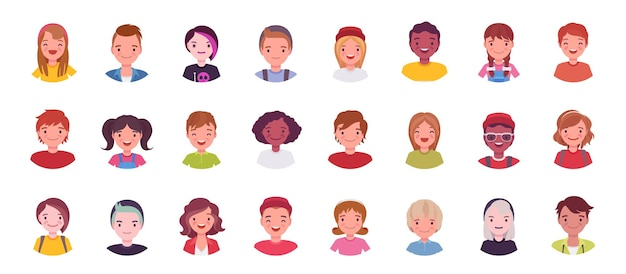 Teens und kids avatar big bundle set