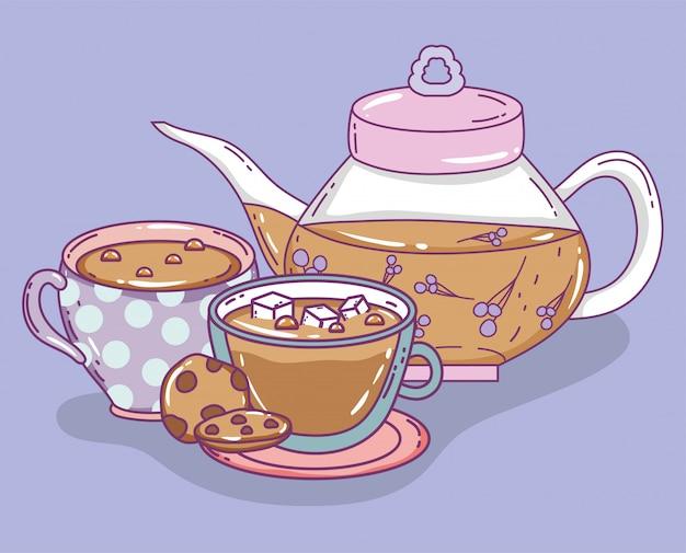 Teezeitskizze flach