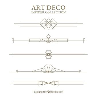Teiler-kollektion im art deco stil