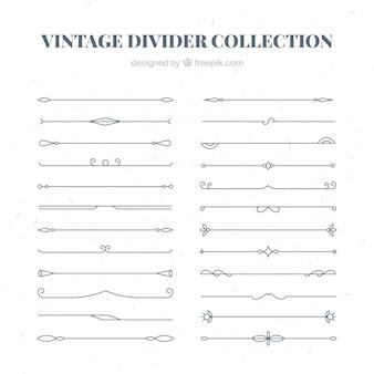Teiler-kollektion im vintage-stil
