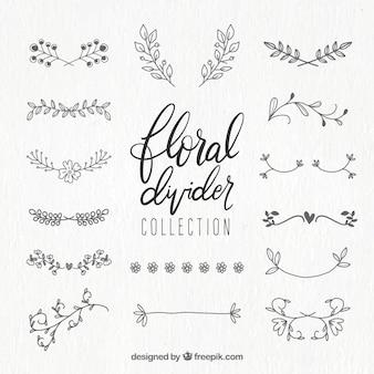 Teiler-kollektion mit floralen ornamenten