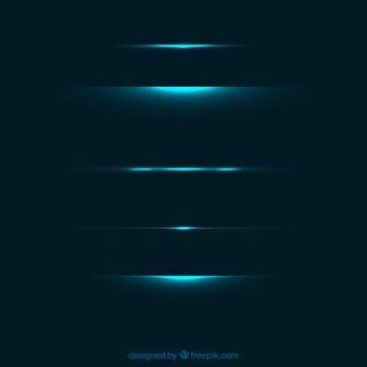 Teiler-kollektion mit lichteffekt