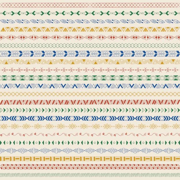 Teilerlinie gestaltungselemente vektor-sammlung