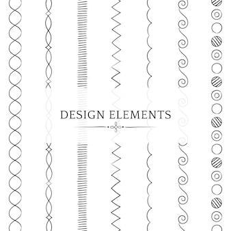 Teilerlinie Gestaltungselementvektorsammlung