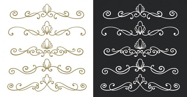 Teilerverzierungs-weinlesehand gezeichnet.