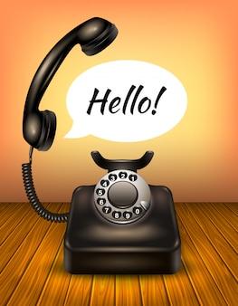 Telefon mit sprechblase