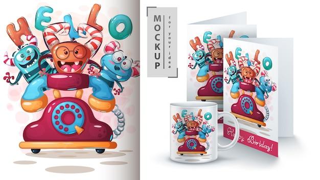 Telefon monster poster und merchandising