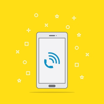 Telefonanruf-symboltaste auf smartphone-bildschirm