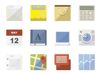 Telefonanwendungen Icon-Sammlung