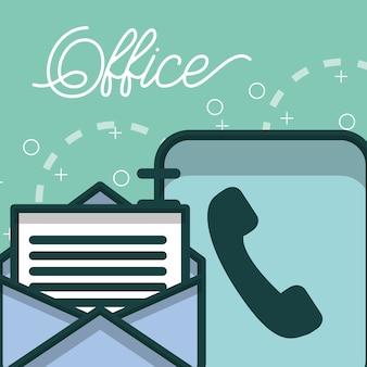 Telefonbuch und e-mail briefpapier büro