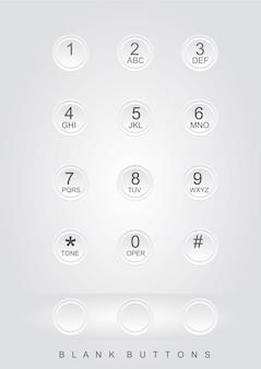 Telefonnummern grauer hintergrund