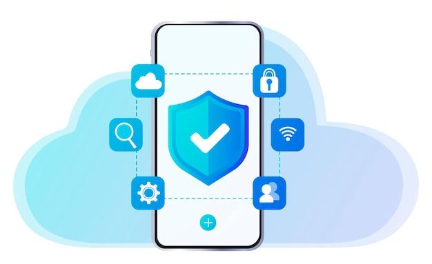 Telefonschutz antivirus aktualisieren von geräten dateiübertragung übertragene dateien verschlüsseltes formular